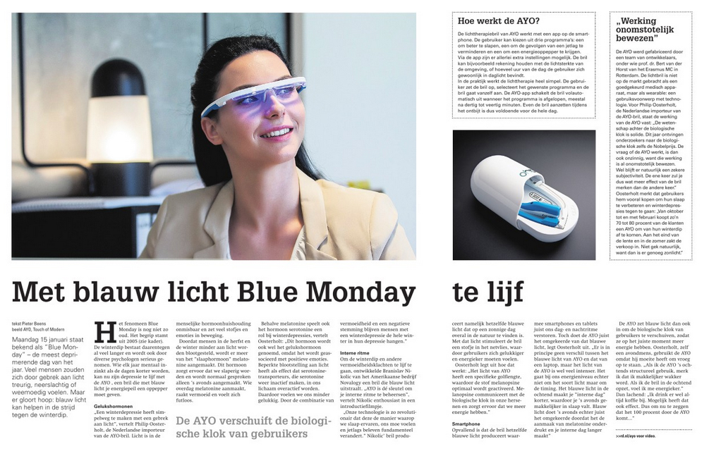 Review of AYO wearable in Dutch newspaper