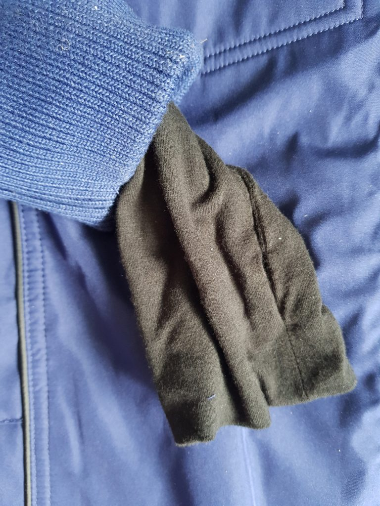 Sleeve of the Baubax jacket for review