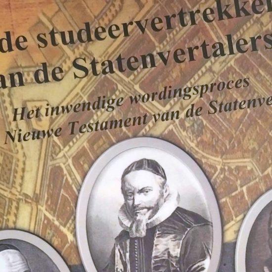"""Cover of thesis """"In de studeervertrekken van de Statenvertalers"""" by Dirk Jan de Kooter"""