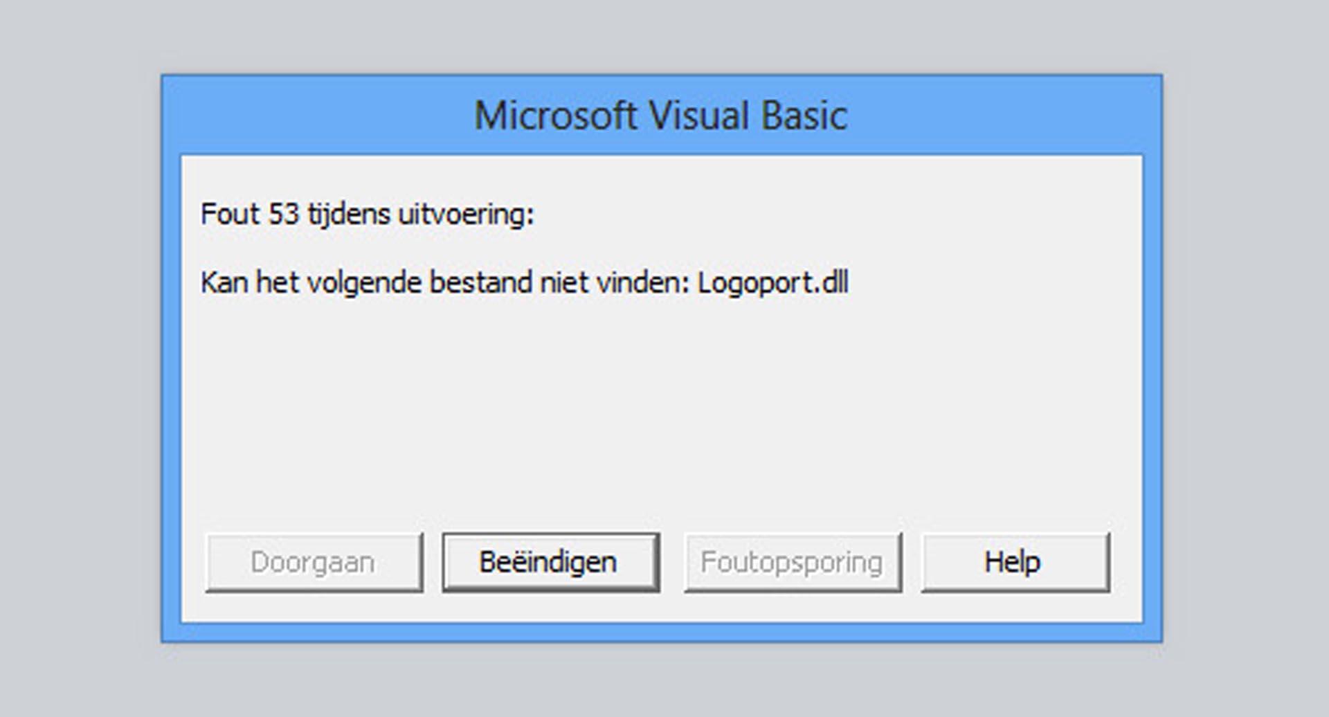 Logoport Xliff Editor - Error 53: Logoport dll not found - Vertaalt nu